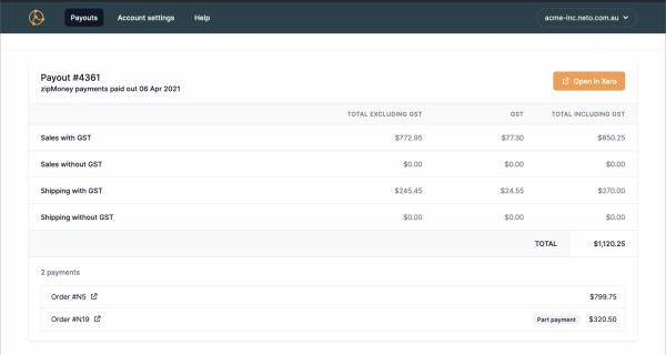 Screenshot for Crossbeam add-on