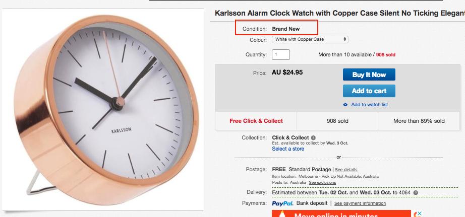 eBay Listing - Brand New Product