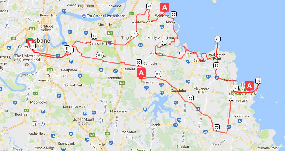Brissie to the Bay Map
