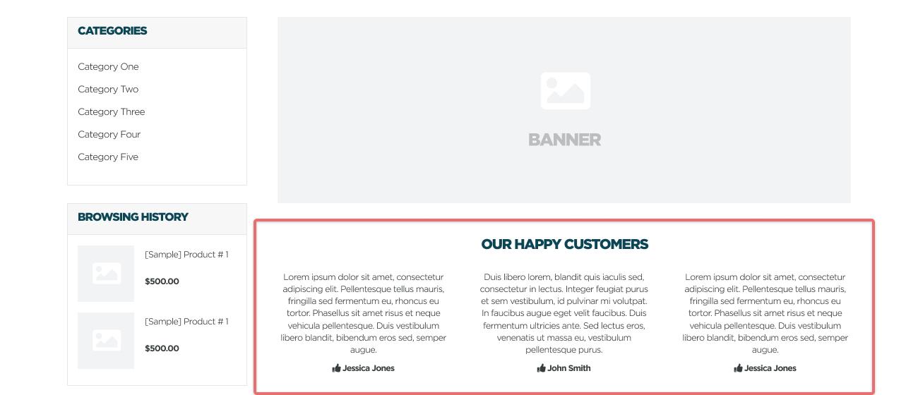 Homepage Testimonials
